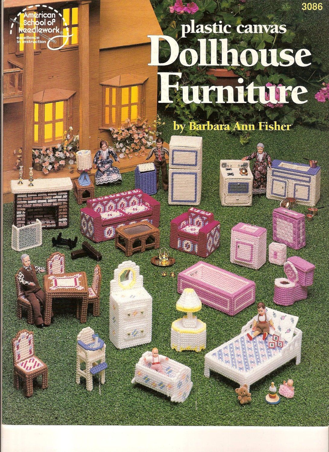 Plastic Canvas Doll Furniture Pattern Leaflet By