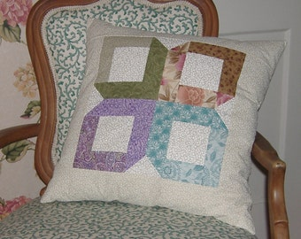 SALE  NOW 40 PERCENT off Traditional quilt block pillow