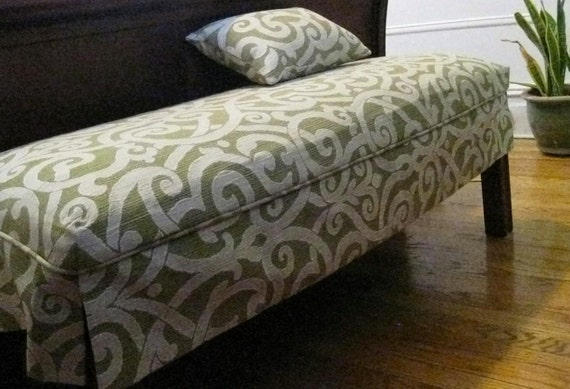 "Furniture Slipcover- Bench Slipcover- Ottoman Slip cover-18""Wx 18"" D x 17""H -  Send YOUR OWN FABRIC"