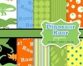 INSTANT DOWNLOAD dinosaur roar digital papers