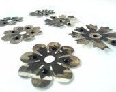 Steampunk Flower Embellishments - Set of 6