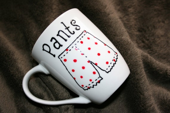 Hand Painted Pants Coffee Mug