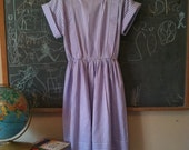 vintage retro purple stripe ladies dress in Medium or size 6