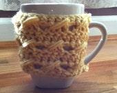 Custard Cable Stitch Cup/Mug Cozy
