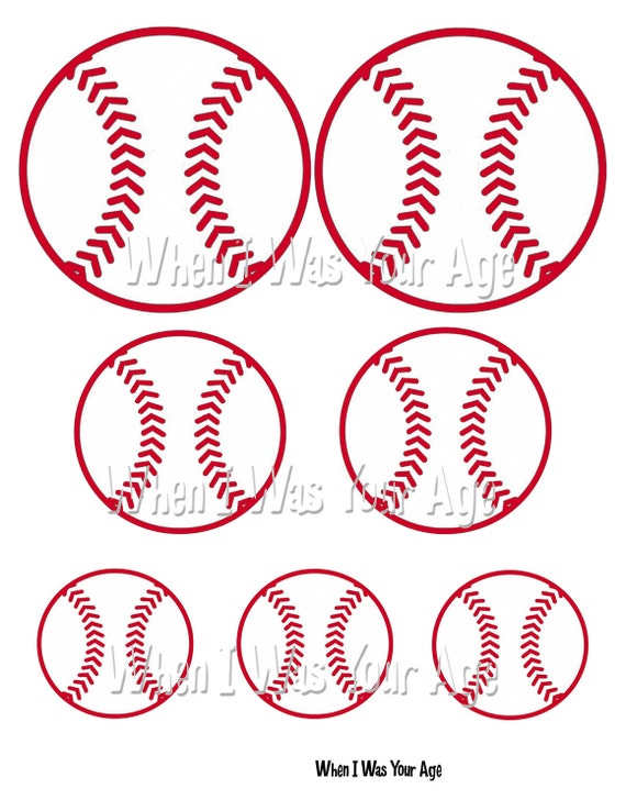 Items similar to Instant Download Printable Baseball Image on Etsy