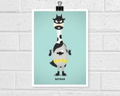 Adorable Superhero - Batman  5 x 7 Print