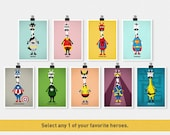 Cute Superhero - Select any One - 5 x 7 Print