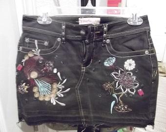 Candies Vintage Mini Denim Skirt