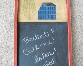 CHALKBOARD Message board Home Decor Country Home Decor Chalk Board Primitive Folk Art Country Handmade French Country Rustic Furniture