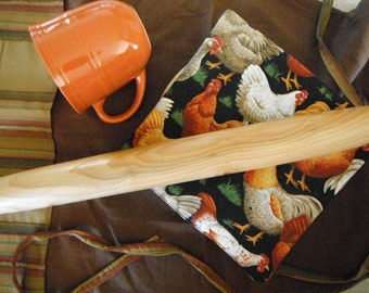 """French Pastry Rolling Pin 20"""" Country Rustic Comtemporary Oregon Cherry Handmade Kitchen Tools Kitchen Utensil Kitchen Essentials"""