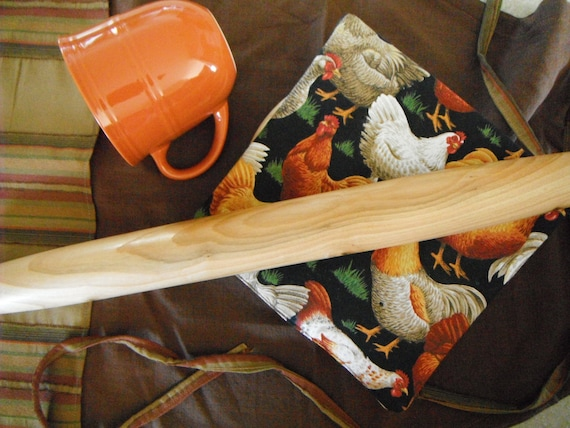 "French Pastry Rolling Pin 20"" Country Rustic Comtemporary Oregon Cherry Handmade Kitchen Tools Kitchen Utensil Kitchen Essentials"