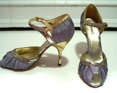 MIU MIU designer periwinkle heels size 38