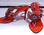 RESERVED  EMANUEL UNGARO designer jeweled heels size 8M