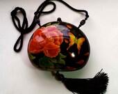 RAFAEL SANCHEZ designer handpainted evening bag