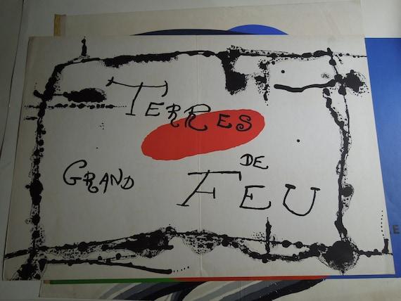 Derriere le Miroir-1956 miro  lithograph 11 x14 in color