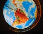 Vintage Light Up Globe by Rand McNally
