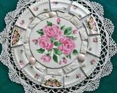 Vintage MOSAIC TILE Set  Arrangement Shabby Cottage Chic Mosaic Tiles