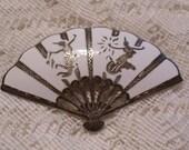 Vintage Siam Sterling Silver Fan Brooch Pin