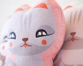 Plush Cat Fabric Doll  // Art Toy Kitten Peli