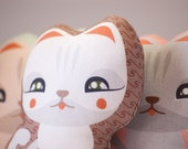 Plush Cat Fabric Doll  // Art Toy Mozzarella Kitten