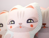 Plush Cat Fabric Doll  // Art Toy Kitten April