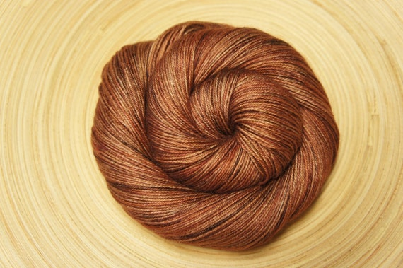 Burnt Toffee...Fingering Weight, 50/50 Silk and Baby Camel...100g, 438 yards
