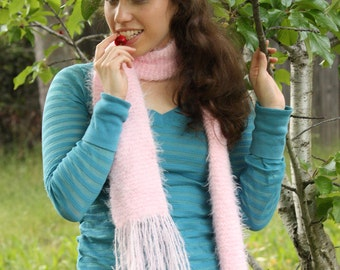 Soft Baby Pink Scarf - Ready to Ship