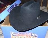 Cowboy Hat Made in USA Self Conforming 4XXXX Beaver Fur Felt Men's Size 7 Western Americana