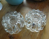 """Vintage Pair of Leaded Glass Crystal Candle Holders 4"""" x 2""""  Excellent Condition"""