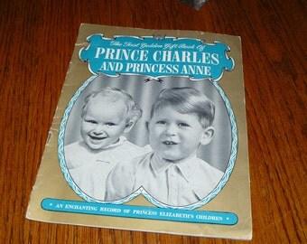 Historic Record Book of Princess Elizabeths Children Prince Charles and Princess Anne 1940s 1950s Vintage 1st Golden Gift