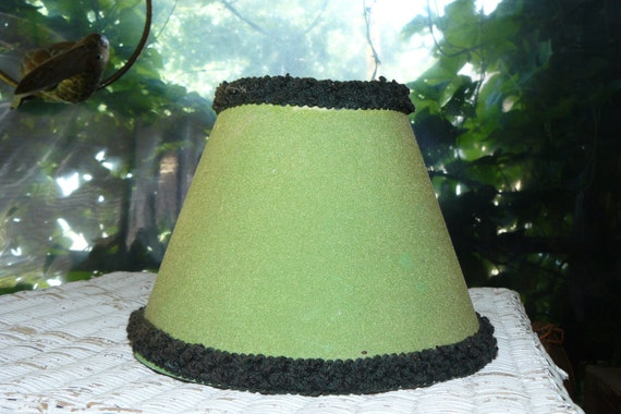 Mid-Century Vintage Lamp Shade Green Lighting Accessory Old fashioned 1940s