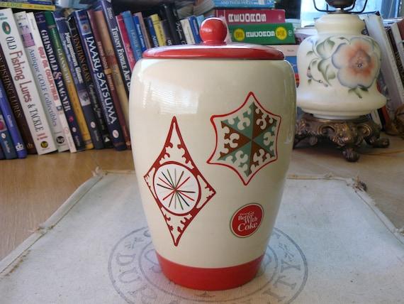 """Vintage Coca Cola 9"""" Cookie Jar Mid-Century Coke Collectible Advertising Memorabilia"""