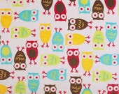4 yards Owls in Mango by Robert Kaufmann