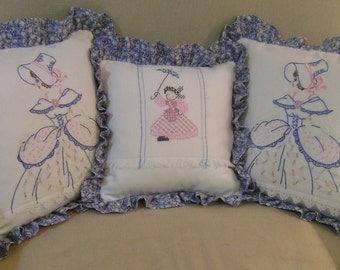 3 Southern Belle Vintage Pillows
