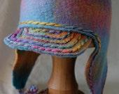 Made-to-order earflap felt hat - Duck-Billed Hattypus