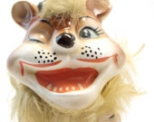 Winky  the Lion vintage figurine most unusual beard top hat strange circus
