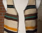 hand Woven native south american alpacha vest wool medium small