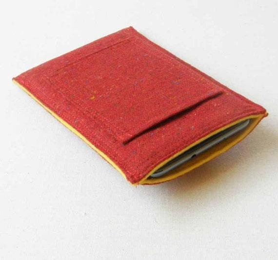 Red Tweed Smartphone Case, Samsung Note Case, Galaxy S3 Case