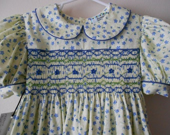 Hand Smocked Children's Dress size 5