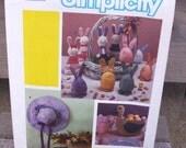 1984 Uncut Simplicity Easter Soft Sculpture-Bunnies, Egg Bunnies, Duck Basket Hat Wall Hanging Pattern 6776
