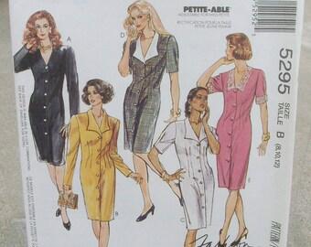 1991 Uncut McCall's Pattern 5295 Misses Dress Size 8, 10,12