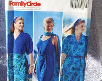 1991 Uncut  Butterick Pattern 5507 Misses Shirt, Tank Top, Shorts & Wrap Skirt  Size 12, 14, 16 Family Circle Collection