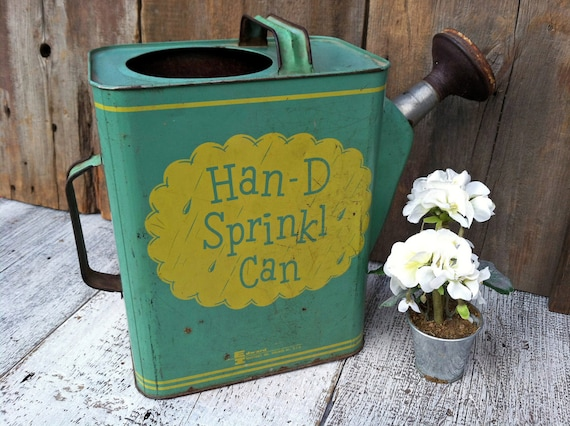 Great Vintage Han-D Sprinkl Can - Watering Can - Great Graphics - Reserved for Danielle