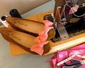 shoe clips huge light pink satin bows