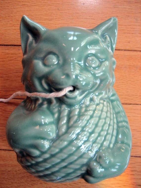 Vintage Mccoy Pottery Celadon Blue Green By