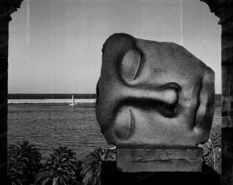8 x12 surreal black and white  fine-art still life photograph