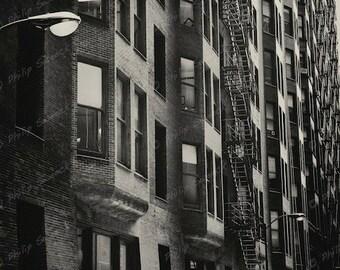 vintage fine art chicago architecture, 8 x 10 sepia print