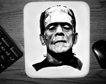 Frankensteins Monster Mouse pad - Original Graphite Portrait