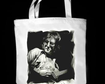 "John Lennon 13"" x 13"" CanvasTote Bag - Original Graphite Portrait"