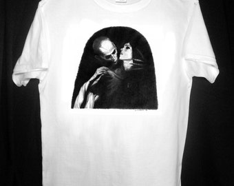 Nosferatu T Shirt - Original Graphite Portrait